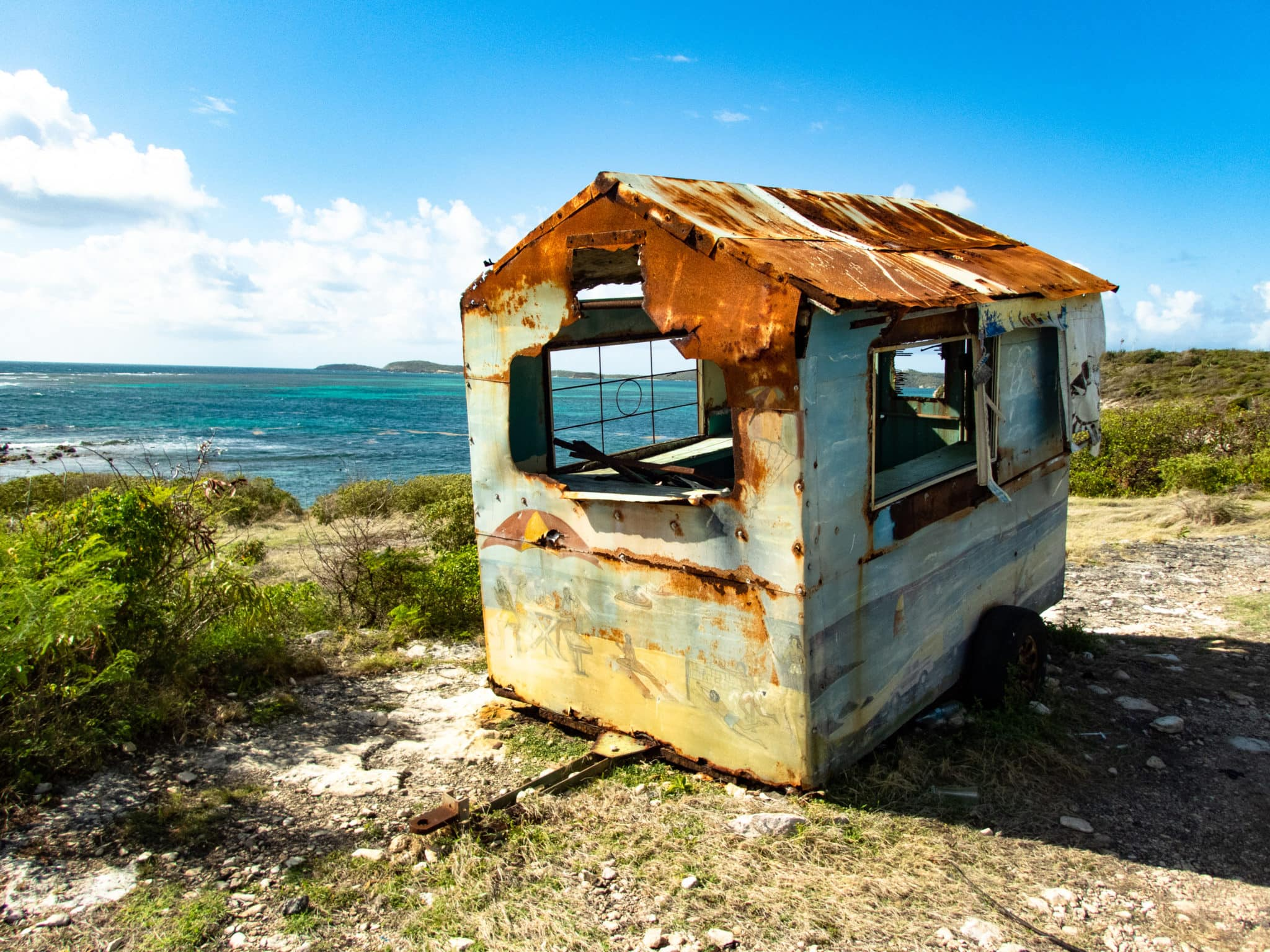 Antigua Snack Van Rusting Away