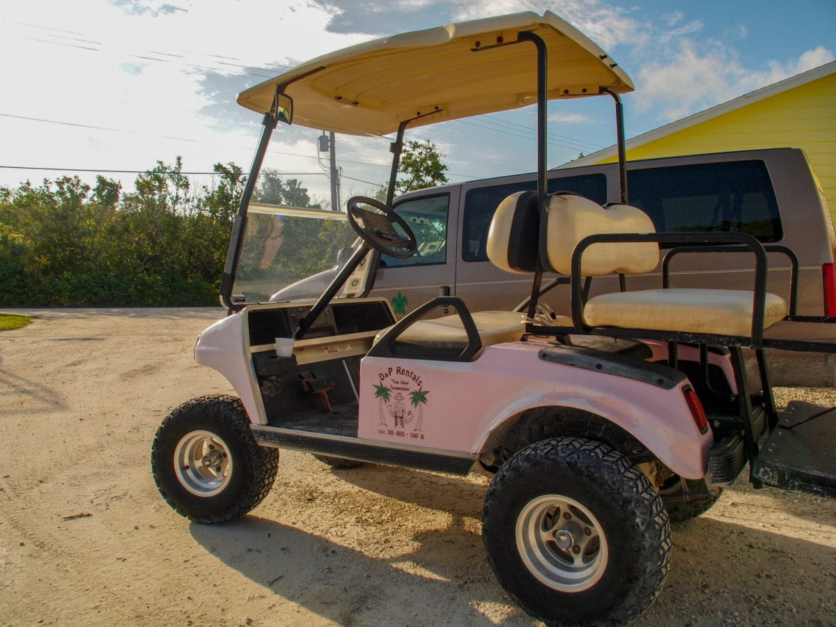 Primary mode of transportation on Green Turtle Cay   SBPR