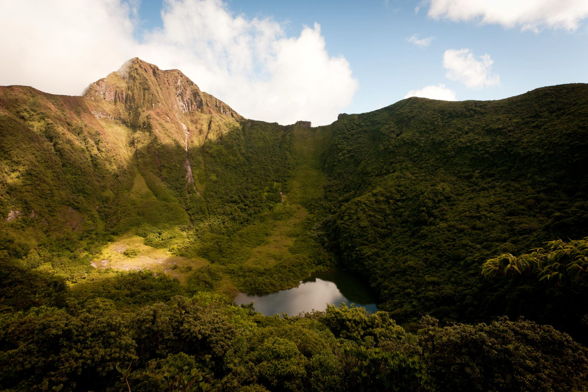 Otherworldly Insides of Mt. Liamuiaga, St. Kitts