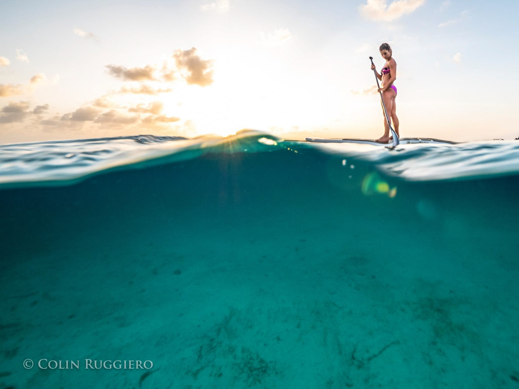Smooth and Cool Afternoon Paddleboarding Staniel Cay