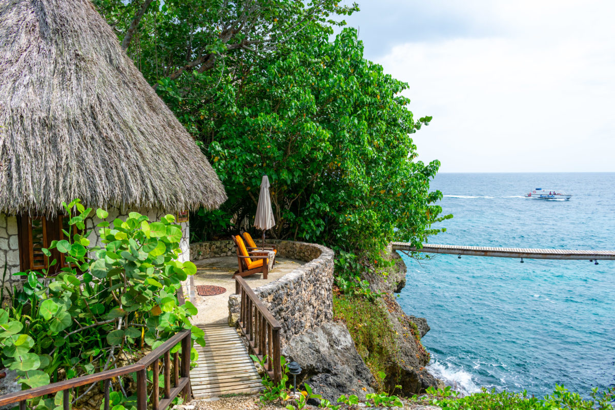 View from Cove Cottage at Tensing Pen, Negril