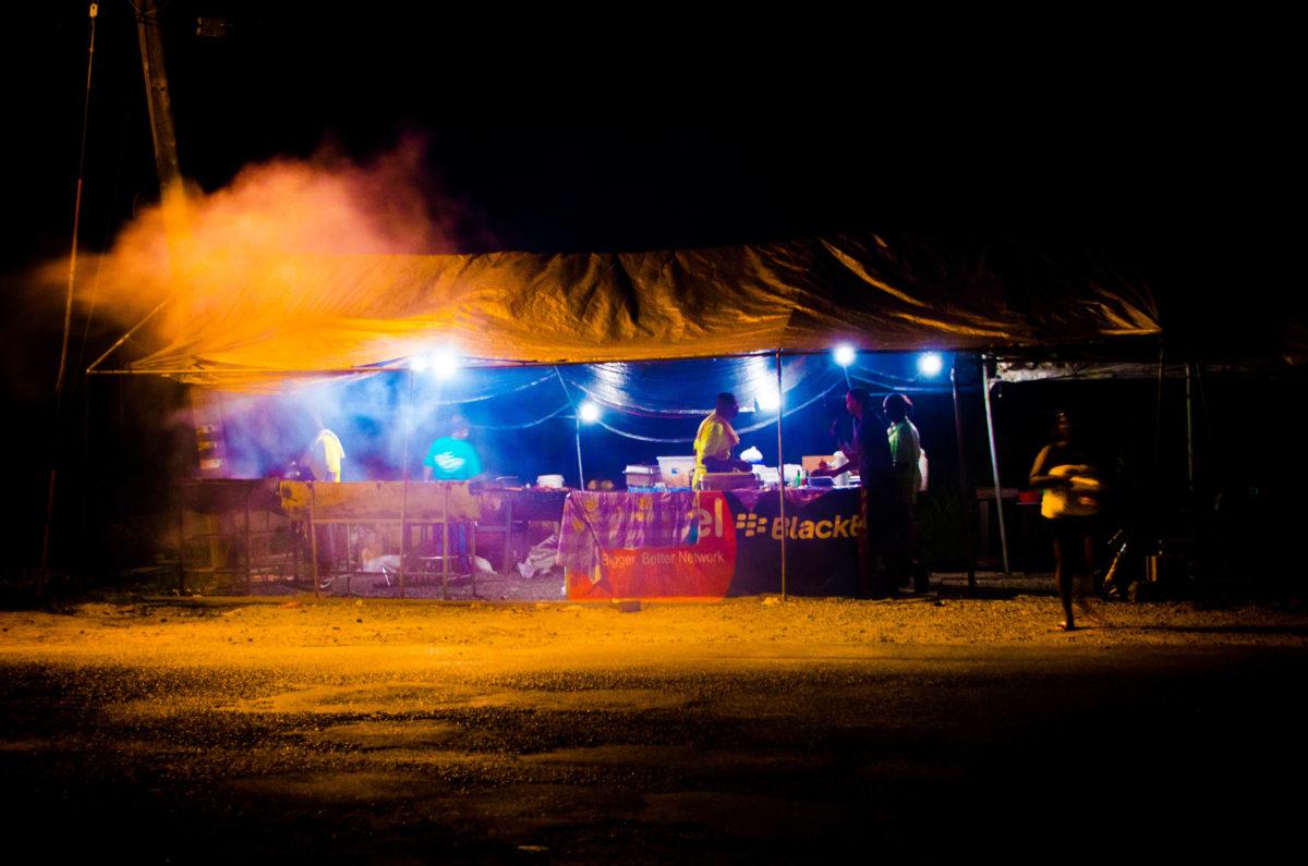 Anguilla roadside BBQ