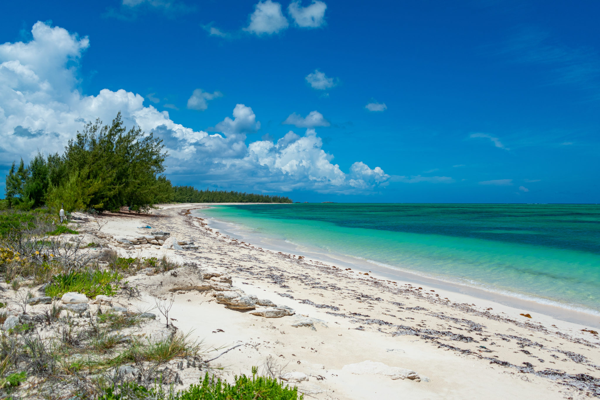 Pumpkin Bluff Beach North Caicos