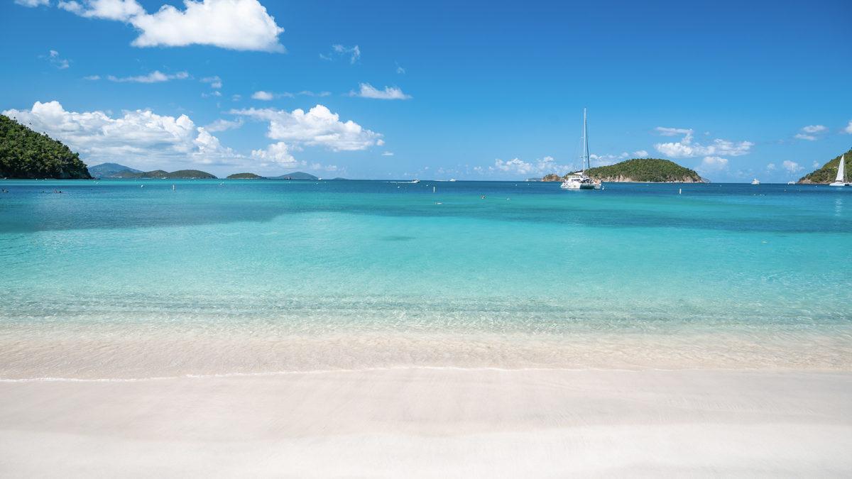 St. John Beach Zoom Virtual Background