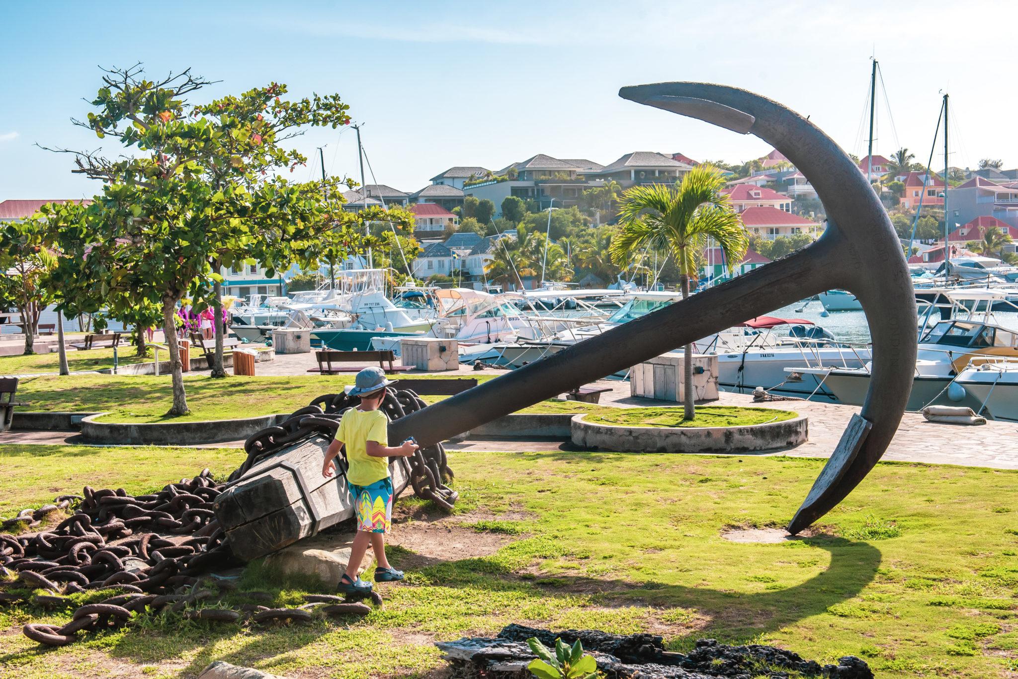 St. Barts' Square de la Retrocession Huge Anchor: Found Art?