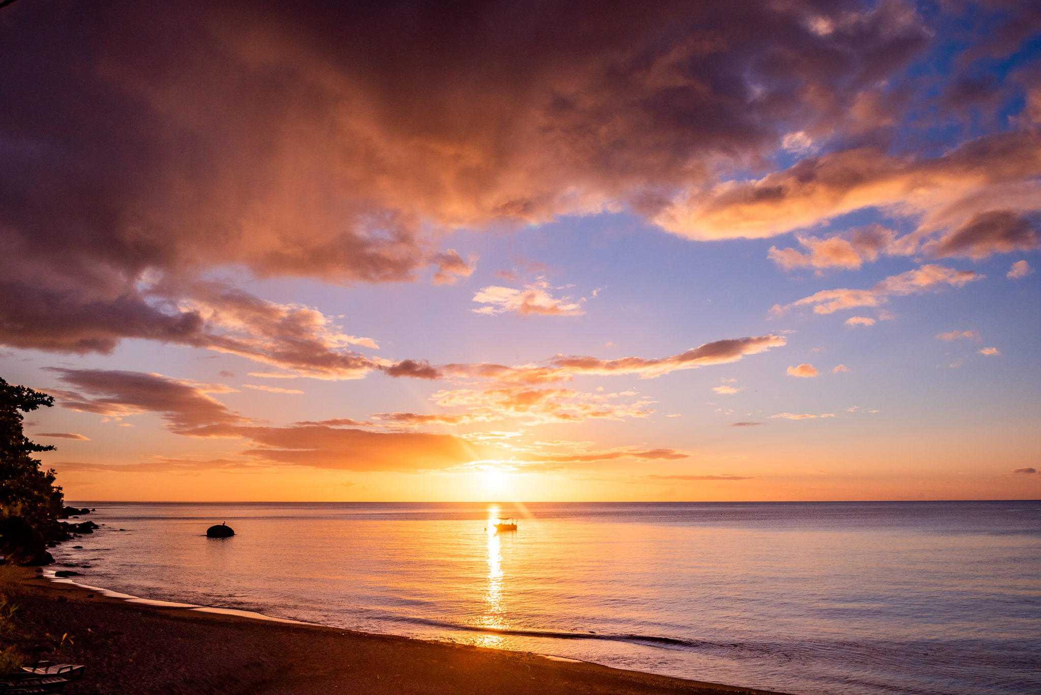 Sunset Bay Sunset – Soak in the Serenity of Dominica